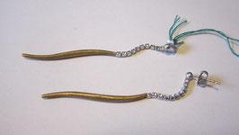 Orecchini in argento placcato e cristalli swarowsky
