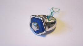 Fiore argento e cristallo blu AN5