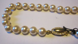 Collana perle fermaglio ovale