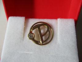 Lettera P con zircone