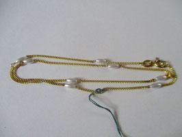 Elegante catenina groumette con perle di Majorca
