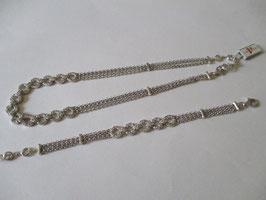 Bracciale o collana in argento e zirconi