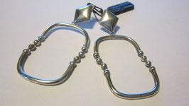 Orecchini in tubolare d'argento