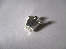 Pendant crown silver and zircons