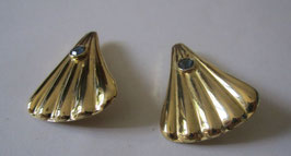 Orecchini in argento placcato con topazio azzurro