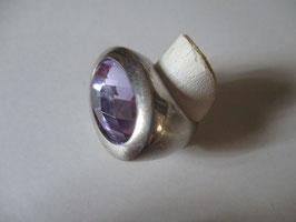 """Anello argento topazio viola chiaro dalle dimensioni """"importanti"""" AN30"""