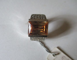 Anello argento topazio giallo AN29