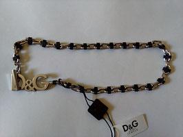 D&G Jewels collana acciaio e morbido cauciù