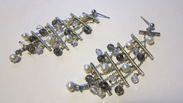 Orecchini in argento con perline