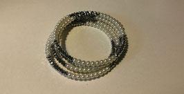 Bracciale elasticiazzato perle e Swarovsky