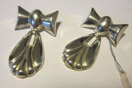 Orecchini a fiocco totalmente in argento