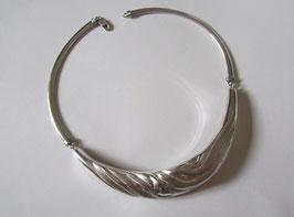 Collana in tubolare d' argento massiccio