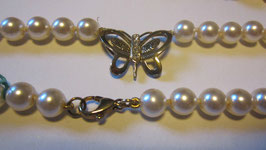 Collana perle fermaglio farfalla Mod.1