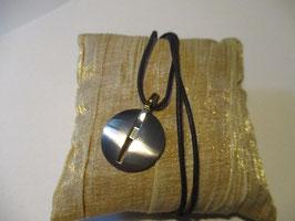 Comete gioielli Ciondolo unisex in acciaio con brillantino