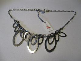 Collana in argento massiccio anelli ovali