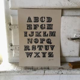 L'alphabet des animaux tamponné