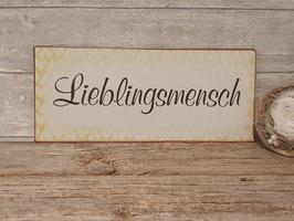 """Metallschild """"Lieblingsmensch"""""""