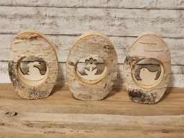 Ei Ornament Holz 3er Set