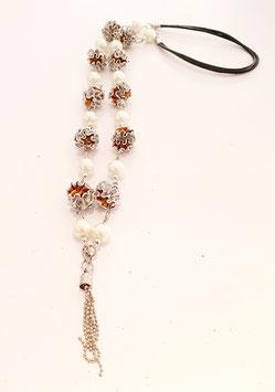 Lange Halskette mit wellenperlen