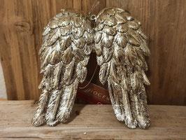 Flügel Ornament Gold/Silber schimmernd