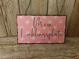 """Schild """"Mein Lieblingsplatz"""""""
