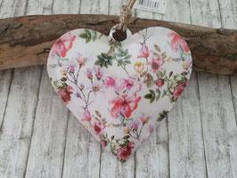 Herz Blumenmuster 16,2x16,2cm