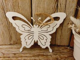 Schmetterling  zum hängen weiss