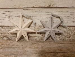 Sternanhänger aus Holz creme oder beige