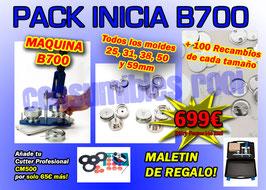 PACK INICIA B700 + TODOS LOS MOLDES + RECAMBIOS CHAPAS