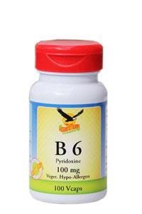 Vitamin B6 a 100mg, 100 vegetarische Kapseln