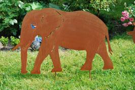 Elefant, Rüssel unten