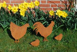 Hühnerfamilie, 4-tlg.
