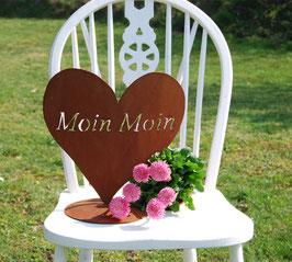"""Herz """"Moin Moin"""" auf Bodenplatte"""