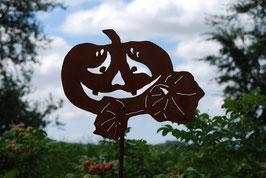"""Halloween Kürbis """"schmunzelnd"""""""