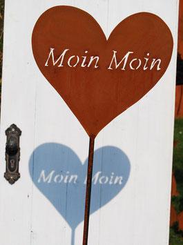 """Herz """"Moin Moin"""" Gartenstecker"""