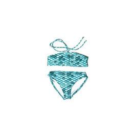 TÜRKIS: Meerjungfrauen-Bikini 2teilig