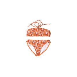 ORANGE: Meerjungfrauen-Bikini 2teilig