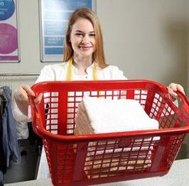 Modul 2 - Bad Set - Handtücher und Wäschekorb