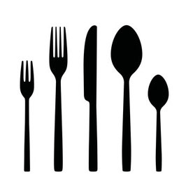 Modul 4 - Besteck-Set - Gabel, Kuchengabel, Messer, Esslöffel & Teelöffel