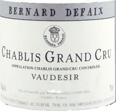 Chablis Grand Cru Vaudesir