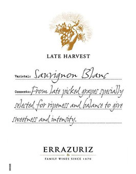 Errazuriz Sauvignon Blanc Late Harvest 2017 37,5 cl