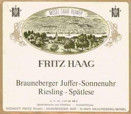 Fritz Haag Brauneberger Juffer Sonnenuhr Riesling Spätlese 2014