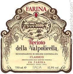 Farina Recioto Della Valpolicella Classico DOCG 2017