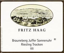 Fritz Haag Brauneberger Juffer Sonnenuhr Riesling Trocken GG 2014