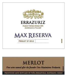 Errazuriz Max Merlot 2017