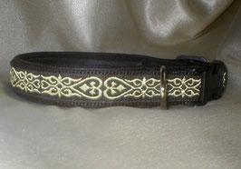Herzschlüssel-schwarz, Klickverschluss,  2,5 cm