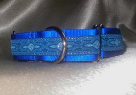 Eiskristall-königsblau, Martingale 2,5 cm