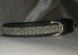 Herzensbande-schwarz-gold, Klickverschluss,  2,5 cm