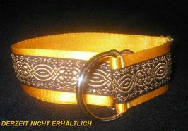 Ornament-sonnengelb, Zugstopp 4 cm