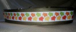 Autumn leaves-olivgrün, Martingale 4 cm